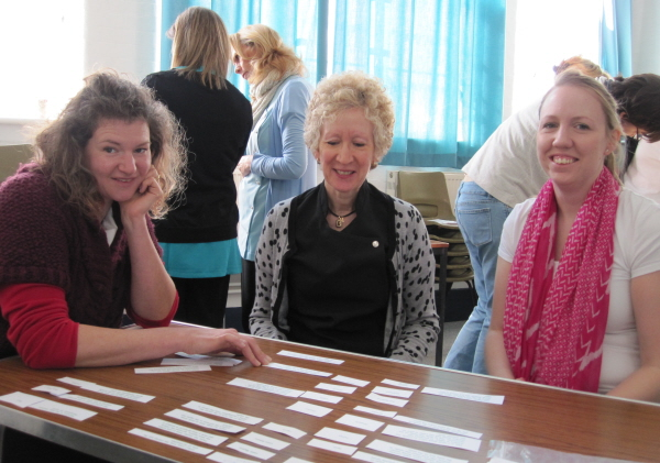 Paula, Maria and Colleen - reproductive matching game