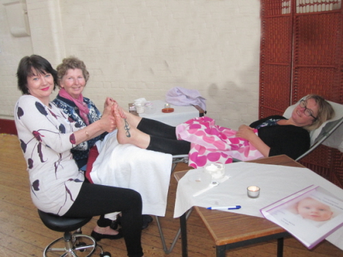 Carolyn, Sandra and Tracey on the Reflexology Supporting Conception 2014