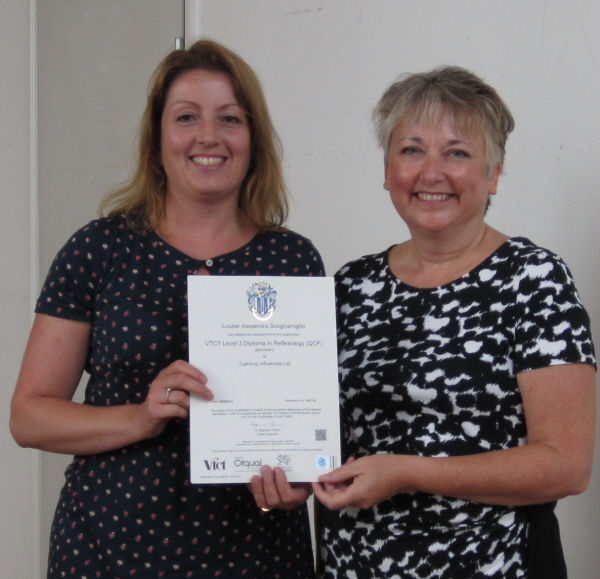 Congratulations Louise S on your reflexology diploma Sept 2014